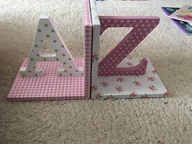 A-Z book ends