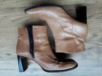 Cara Tan Leather Ankle Boots. Very good condition. No scuffs. Size 6