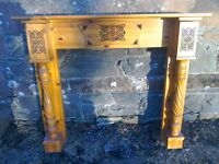 Celtic Interlace Design Solid Pine Fire Surround Fireplace