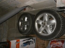 "vauxhall vectra c omega 4x wheels rims tyres 16"" 215/55 R16 120£"