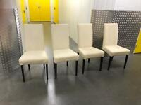 4x leather table chairs, Free delivery