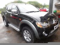 2006 55 MITSUBISHI L200 ANIMAL BLACK , 3 MONTHS WARRANTY , LOW MILES 88K , AUTO ,Delivery FREE