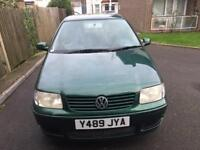 VOLKSWAGEN POLO 1.4 MATCH 5DR MANUAL HATCHBACK PETROL GREEN LOW MILEAGE GOOD CONDITION