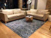 West Elm Rug - Spray Dyed Geo Wool Rug 2.4 x 3m Feet - Indigo - Excellent Condition