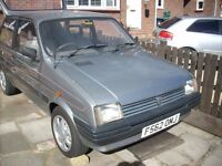 Austin Metro City X 1989 F reg 3 door **** SOLD SUBJECT TO COLLECTION ****