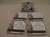 Cat Coaster Set
