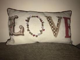 'Love' cushion for sale