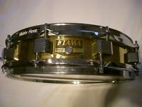 "Tama PM343 brass snare drum 14 x 3 1/2"" - Japan - 1990s"