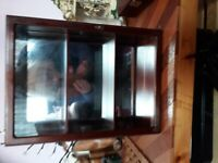 Small glass display cabinet for sale