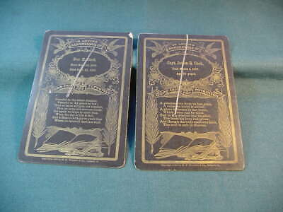 1907 Capt James H Cook & Don H Cook Antique Memorial Funeral Cabinet Cards