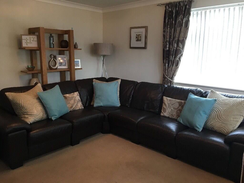 Dfs Linea Range Corner Sofa 6 Seater Chocolate Brown