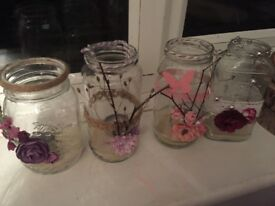 Tree cuttings and a candle jars to go with them great decorations!!