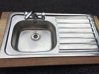 Stainless steel sink in mint condition