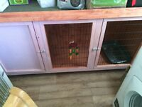 Pink rabbit hutch immaculate plus extras