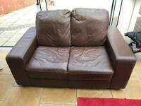 2x Brown 2 seater sofas, good condition - must see!