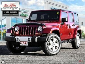 2012 Jeep WRANGLER UNLIMITED Sahara *4X4, AUTO, DUAL TOPS*