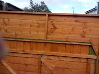 6 x 4 overlap garden shed - dismantled but base needs lifting.