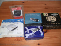 Small bndle including modem, 2 wireless pc cards and card reader - all unused and boxed