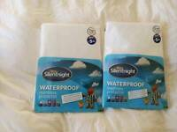 Silentnight waterproof single bed sheets x 2 - New and unopened