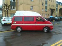 Much Loved VW T4 Hi Top Campervan 11 months MoT. Sleeps 2 adults/2 children or makes a good day van.