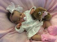'Poppy' Beautiful Reborn (newborn size) sleeping girl by Kayo Babz