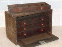 vintage 5 drawer tool chest.