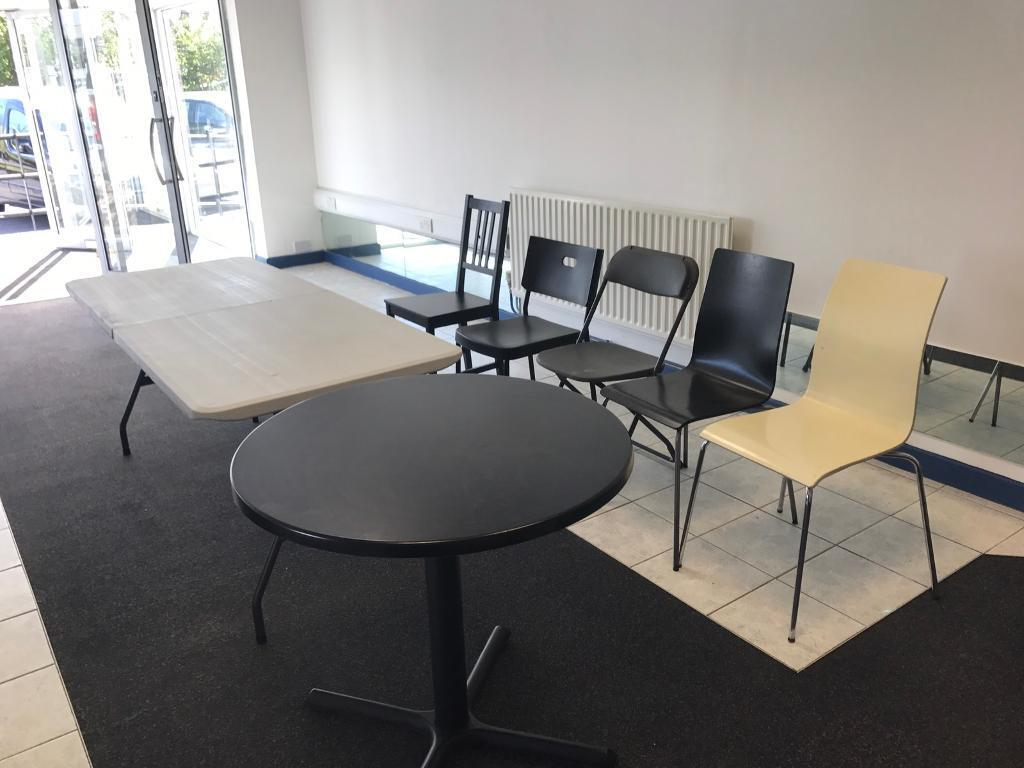 job lot tables and chairs from a large cafe pub shop furniture in swansea gumtree