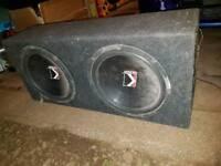 Kicker twin sub car bassbox