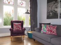 Purple/Plum M&S MARKS & SPENCER Wing Back Armchair Chair