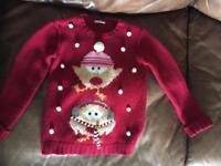 Cute Christmas jumper - age 8