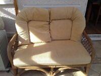 Wicker conservatory settee/sofa
