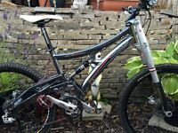 Whyte 46 Full Suspension Mountain Bike Plus spare maverick Duc 32 forks and front wheel