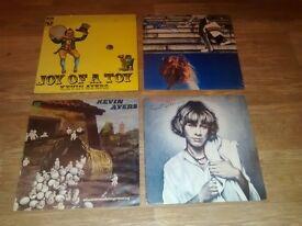 4 x kevin ayres - joy of a toy / whatevershebrings / rainbow / sweet - orig issue vinyl LP's