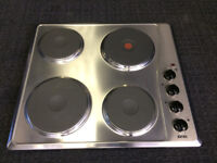 four ring solid plate stainless steel hob (new graded)