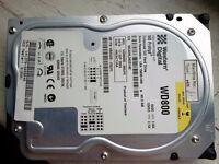 SATA HDD 80 GB