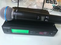 Shure SLX beta 58 wirwless microphone and slx2 receiver