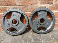 2 x 10KG OLYMPIC WEIGHT PLATES