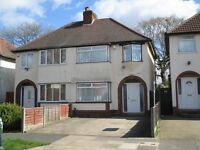 Spacious three bedroom semi detached house in Selly Oak.