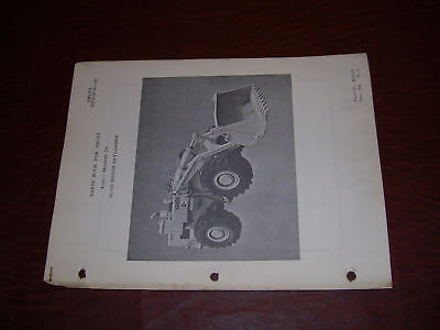Drott Service Parts Manual H100 Hough Loader Bucket
