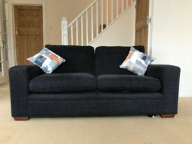 Next dark grey 3 seater sofa