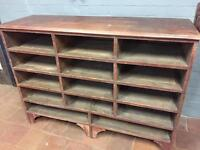 Old pine pigeon hole cabinet