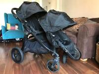 Baby Jogger City Select Double All Black inc Footmuff & Raincover