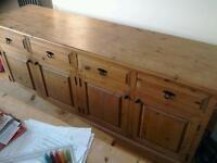 Beautiful large handmade sideboard in solid pine