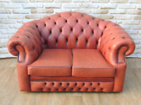 Cheap Chesterfield Leather Sofa 2 seater (Delivery)