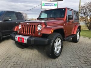 2014 Jeep Wrangler SAHARA 4WD W/DUAL TOPS 4WD 1-OWNER TRADE!!