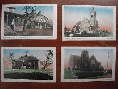 4~ Kulpsville Pennsylvania PA Postcard Lot School/Church/Post Office 1910s-1920s