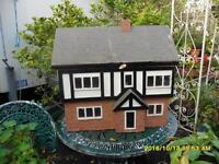 Old Dolls House, Georgian style, wooden, in good original condition