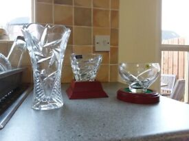 Three lovely pieces of Crystal