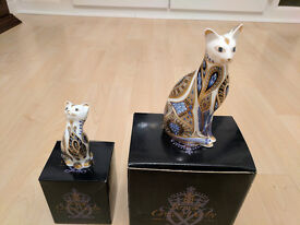 Details about Royal Crown Derby Siamese Blue Point Kitten & Cat - Ideal Gift & Xmas Present