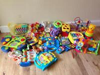 Toys activity table book coaster phone LOT babies toddlers children